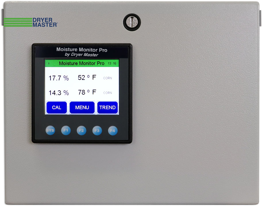 The Dryer Master DM100 measures grain moisture at the discharge points and provides an element of control to relieve the workload of whoever is managing the dryer.