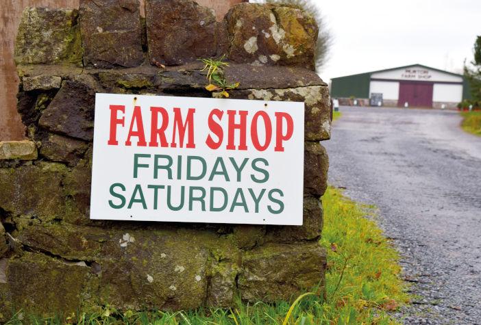 Murton,Wales,Uk,November,2019:,Farm,Shop,Sign,In,The