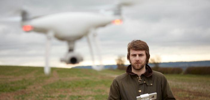 Founder Jack Wrangham flying a Drone